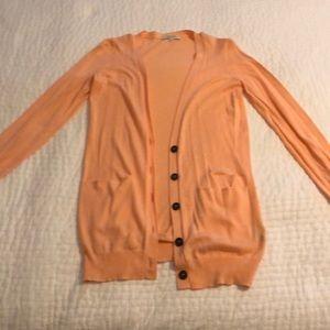 Madewell orange cardigan